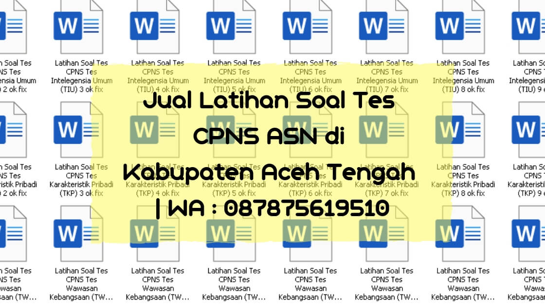 Jual Latihan Soal Tes Cpns Asn Di Aceh Tengah Wa 087875619510 Bahassoalcpns