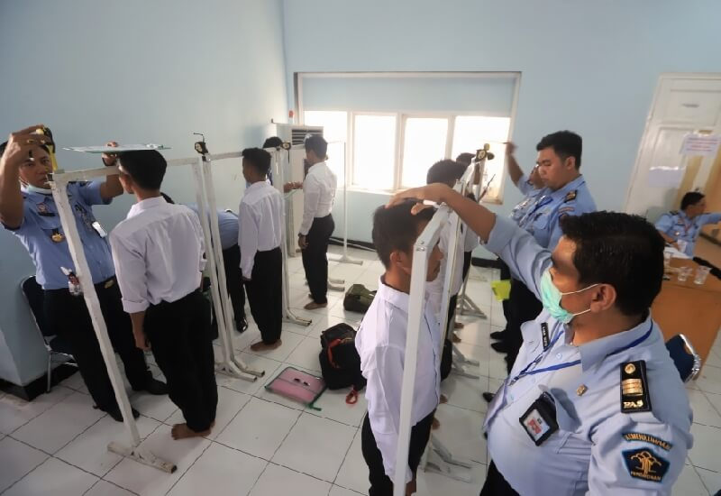 Tes SKB CPNS Kemenkumham Pengamatan Fisik Pengukuran Tinggi Badan Peserta