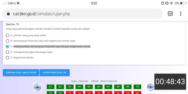 Soal TKP CPNS CAT BKN Online (25)