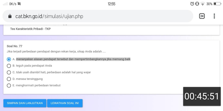 Soal TKP CPNS CAT BKN Online (28)