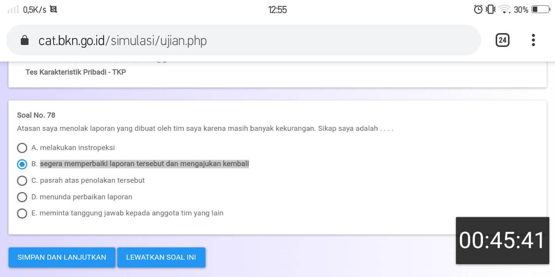 Soal TKP CPNS CAT BKN Online (29)
