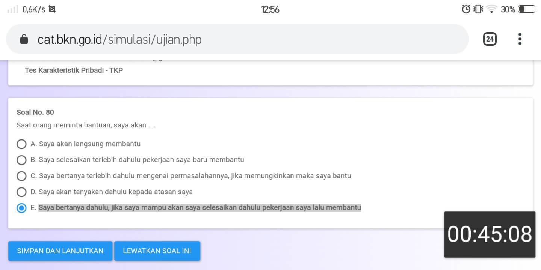 Soal TKP CPNS CAT BKN Online (31)